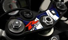 ADESIVI 3D GSXR PROTEZIONE PIASTRA STERZO COMPATIBILE per MOTO suzuki GSX-R blu