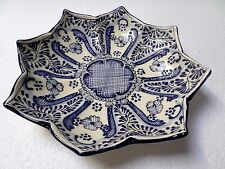 """Mexican Talavera Pottery Ceramic Kitchen Serving Platter Tray Plate Blue 12"""""""