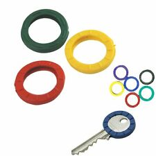 10 Colour Rubber Plastic Key Caps / Toppers / Covers For Easy Identification