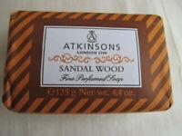 Atkinsons Fine Perfumed Line Soap Sandalwood 125 g, 1 Piece