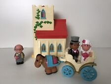 ELC Happyland Church Wedding Set with Sounds Inc Horse & Carriage & Figures