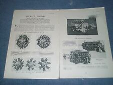 1934 R.A.F. Aircraft Engines Vintage Article Armstrong Siddeley Range