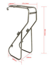 LKLM Bike Cycling Bicycle Platform Front Rack Silver-Stainless Steel For Touring