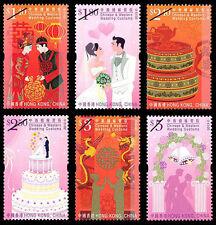 Hong Kong Chinese and Western Wedding Customs stamp set MNH 2013