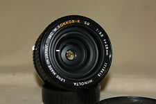 MINOLTA MC W-ROKKOR-X SG 28mm 1:3.5 MANUAL FOCUS LENS MD MOUNT  EXCELLENT 7088