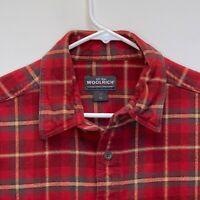 Woolrich Mens Flannel Shirt Multicolor Plaid XL