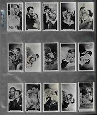 1937 JOHN SINCLAIR FILM STARS A SERIES OF REAL PHOTOS 54 CARDS