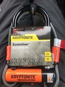 Kryptonite Evolution Mini 7 With 4'Flex Cable Cycle Bike D Lock