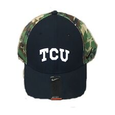 reputable site 4ff71 4030b NWT New TCU Horned Frogs Nike Flex Fit Camouflage Hat Cap