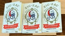 3X ZIG ZAG ROLLING PAPERS KUTCORNERS CIGARETTE 32 LEAVES PER BOOK 3 PACKS