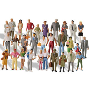 60pcs Model Trains O Scale Painted Figures 1:43 Scale Standing People P4310