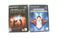 Playstation 2 Lot of 2 Games Star Wars Episode 3 And Star Wars Jedi Starfighter