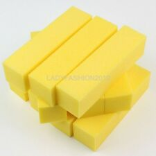 10 Solid Yellow Nail Art Care Buffer Sanding Block Shiner Buffering Files Set