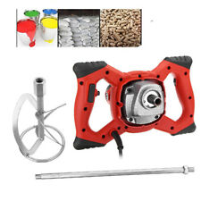 Electric Concrete Mixer Cement Stirrer For Plaster Mud Mortar Adjustable 6 Speed