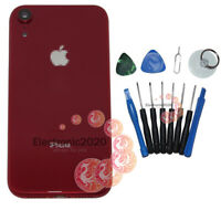 Red For iPhone XR Housing Back Glass Chassis Frame Battery Cover +Buttons Tool