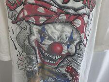 Evil Clown He's a Joker Embroidered T-Shirt Hip Hop Baller Cash Dice Heavy 3XL