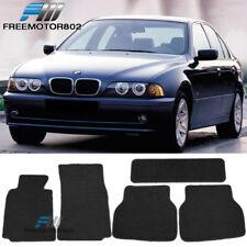 For 97-03 BMW E39 5-Series Black Nylon Floor Mats Carpets 5PC