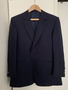 Bespoke Max Evzeline Navy Mohair Blazer - Size 38/48R AS NEW