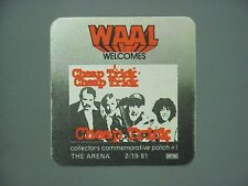 Cheap Trick satin radio sticker Authentic Waal Welcomes !