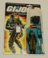 1986 GI Joe Beach Head Army Ranger v1 Figure w/ File Card Back *Complete *READ