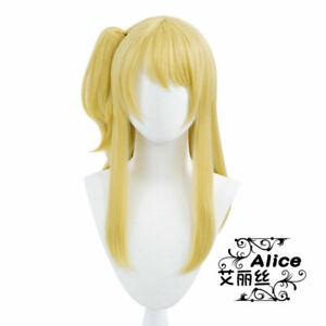 Anime FAIRY TAIL Lucy Heartfilia Wigs Cosplay Harajuku Cute Long Hair Hairpiece