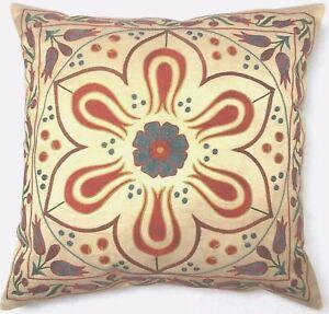 Uzbeki Suzani Embroidery Silk Pillow Exklusive Vintage Bestickt Seide Kissen