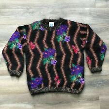 ICELANDIC Design Floral Mohair Pullover Sweater Women's Size S/M Small Medium