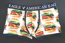 MENS AMERICAN EAGLE LOW RISE TRUNK HAMBURGER BOXER BRIEF SIZE XS (26/28)
