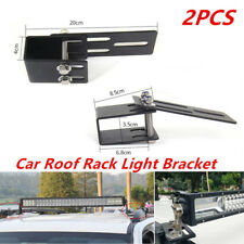 2PCS Car Roof Luggage Rack Light Bar Bracket Bumper Mounting Holder Kit 4x4 SUV