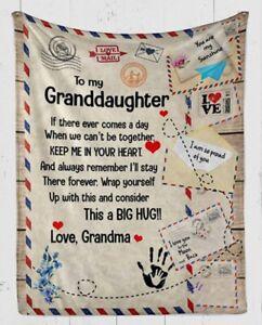 To My Granddaughter Fleece Blanket 3d,Fleece Blanket Gift