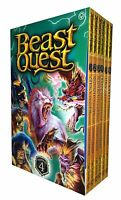 Beast Quest Series 4 Set: The Amulet of Aventia (19 -24) 6 Books Collection