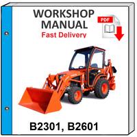 KUBOTA B2301 B2601 TRACTOR SERVICE REPAIR WORKSHOP MANUAL