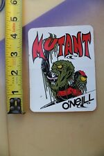 O'NEILL Surfboards Mutant Wetsuit Wet Suit Monster Slime Vintage Surfing STICKER