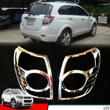 Equip 12-15 Chevrolet Captiva Suv Pair of Chrome Tail Lamp Light Cover Trim