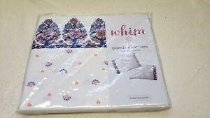 Martha Stewart Whim Pair of Pillowcases Borderline Paisley 100% Cotton For Macys