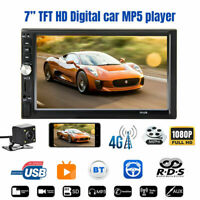"""2 DIN 7"""" HD Car Stereo Radio MP5 Player Bluetooth Touch Screen W/ Rear Camera"""