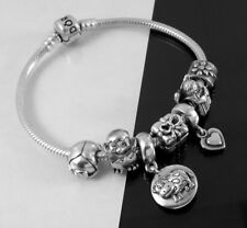 ⭐️ PANDORA Authentic 925 ALE Sterling Silver Bracelet w/ ( 7) Pandora ALE Charms