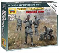 Zvezda 6133, 1:72, WWII, German HQ, 4 Figuren, Plastikmodellbau, GMK