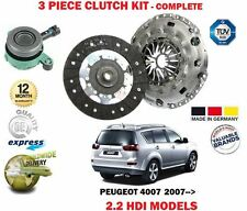 FOR PEUGEOT 4007 2.2 HDI 2007-> CLUTCH KIT + CONCENTRIC SLAVE CYLINDER SET