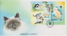 Unaddressed Jersey FDC First Day Cover 2002 Jersey Cats II Sheet 10% off 5