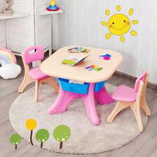 3 tlg. Kindersitzgruppe Kindertisch Sitzgruppe Kindermöbel Aufbewahrungsboxen