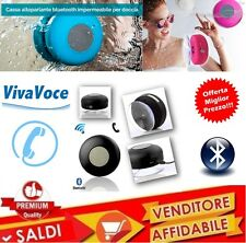 CASSA DOCCIA ACQUA BLUETOOTH ALTOPARLANTE SHOWER SPEAKER IMPERMEABILE WATERPROOF