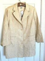 NEW Chico's Size 3 (16-18) Belle Amour Odette Jacket Gold Brocade Dress Coat