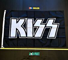 New listing Kiss Flag Free First Class Ship Gene Simmons Paul Stanley Poster Sign New Banner