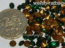 36 x preciosa 19ss emerald gold-déjouée chatons