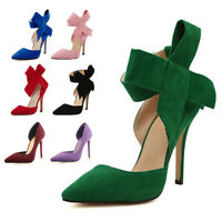 Evening Party Wedding Ankle Strap Pointed Toe Sandals High Heels Stilettos Shoes