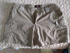 Women's TRUE SPEC 24/7 ASCENT Tactical Shorts Khaki Size 14