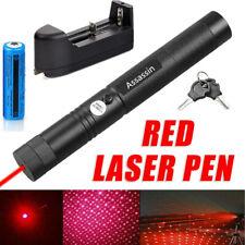 900Miles Star Red Laser Pointer Pen Super Bright Lazer Torch+18650 Batt+Charger