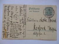 D.Reich Doppelganzsache von brieg Breslau nach Herford (7340)