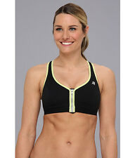 SHOCK ABSORBER ACTIVE ZIPPED PLUNGE SPORTS BRA BLACK #S00BW SIZE 36 E NEW! $69